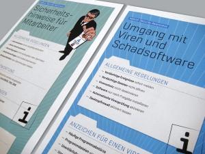 Poster-Kampagne Datensicherheit im Unternehmen