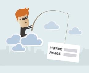 Hacker stiehlt Daten durch Phishing