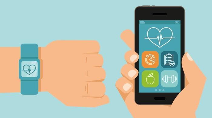 Health app iWatch und Smartphon