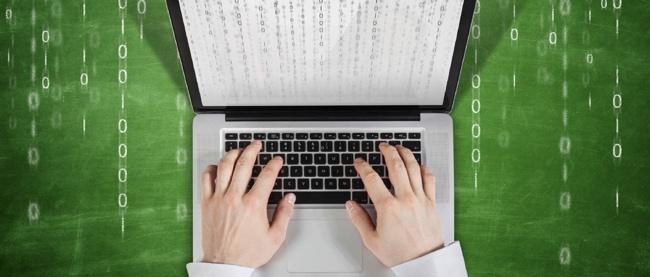 Macbook in der Matrix