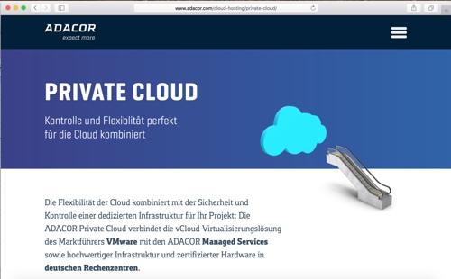Screenshot ADACOR Desktop